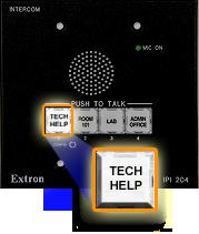 Tech Help button on podium